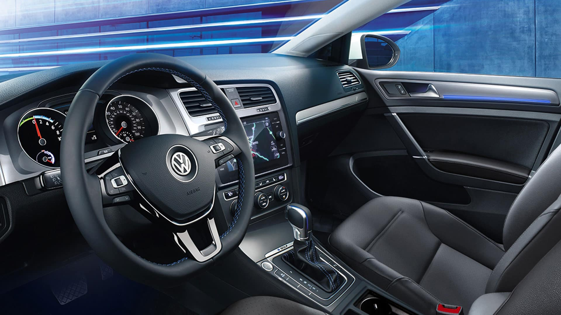 2019 VW e-Golf interior styling
