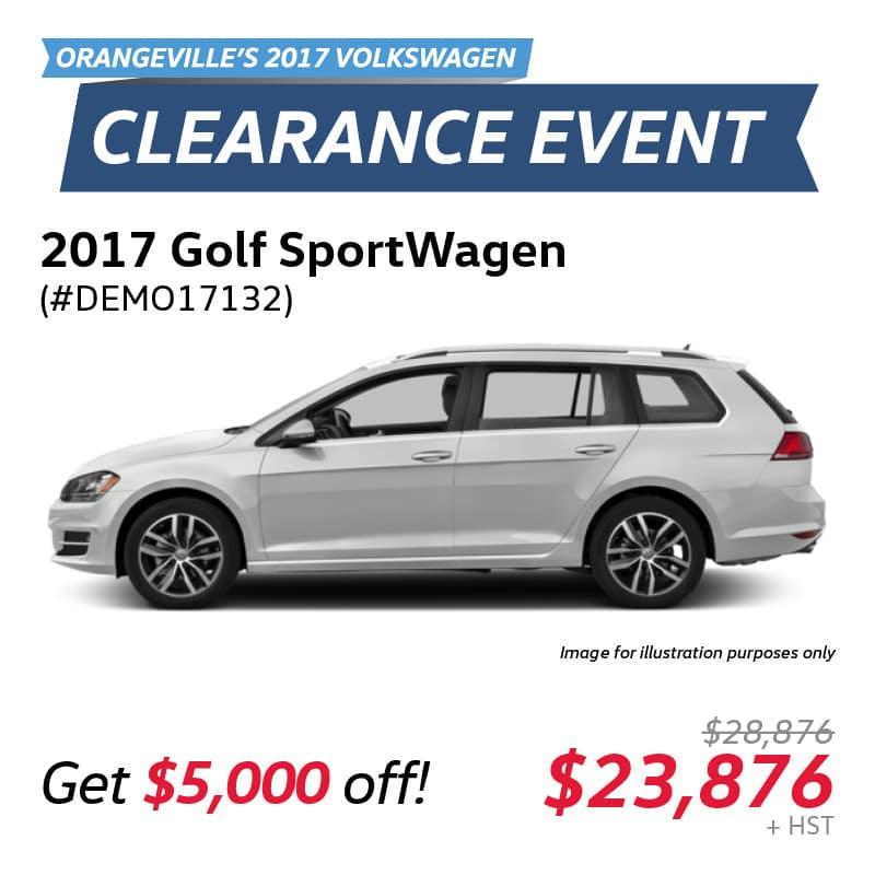 2017 Clearance Event: Golf SportWagen Trendline