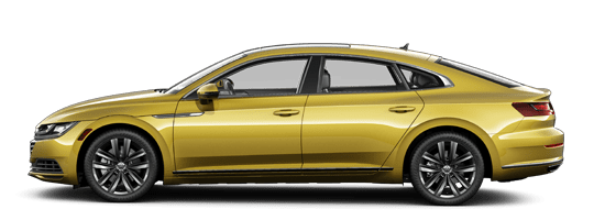 Gold 2019 Arteon, side profile
