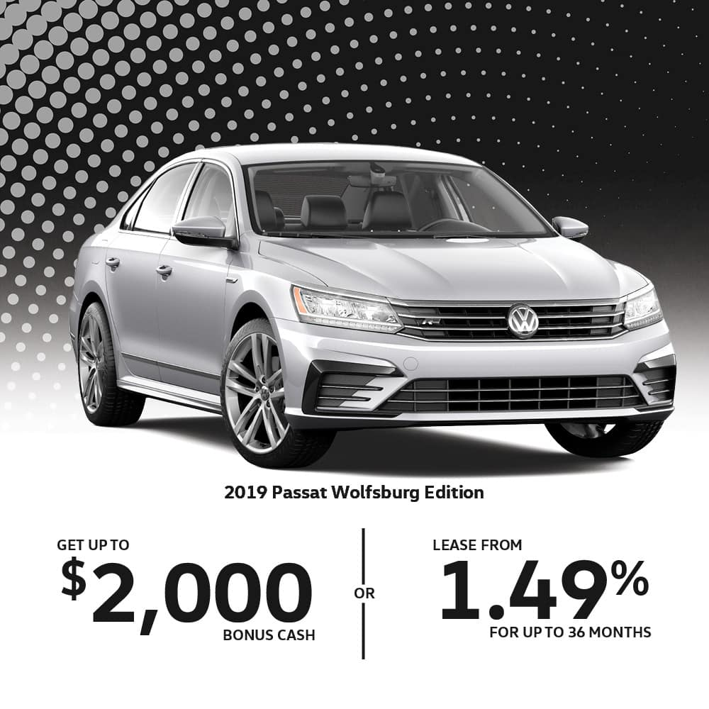 Volkswagen Vehicle Specials