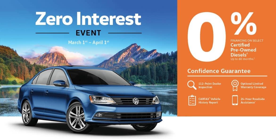 Zero Interest Event banner