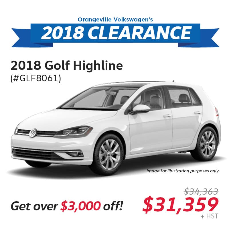 2018 Clearance: Golf Highline