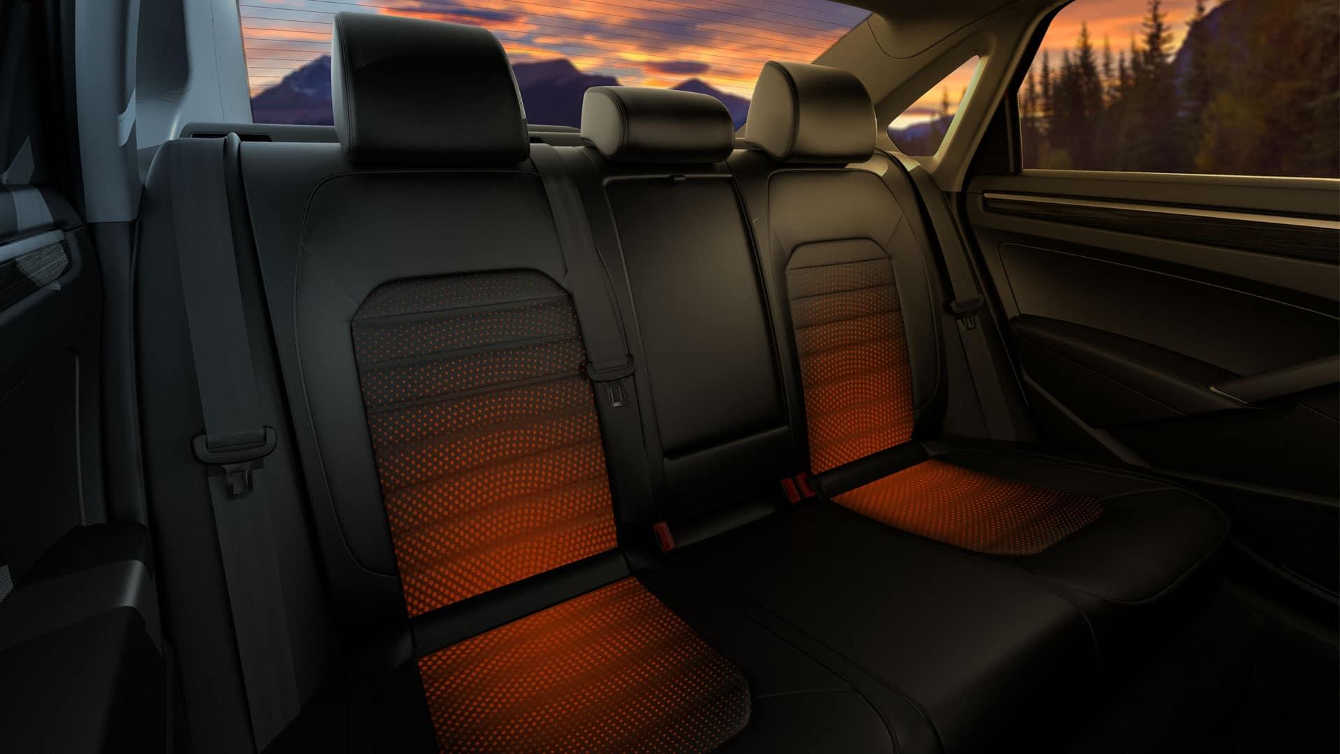 Illustration of heated seats