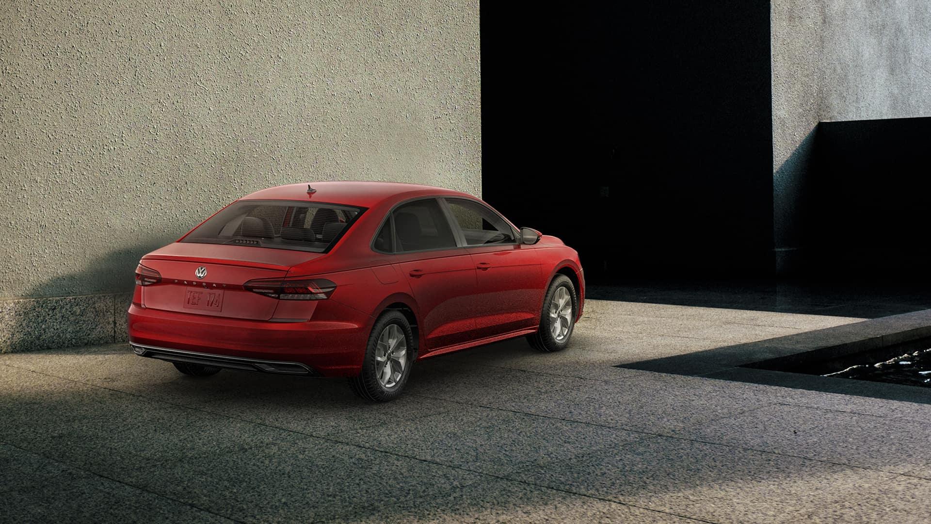 Red VW Passat