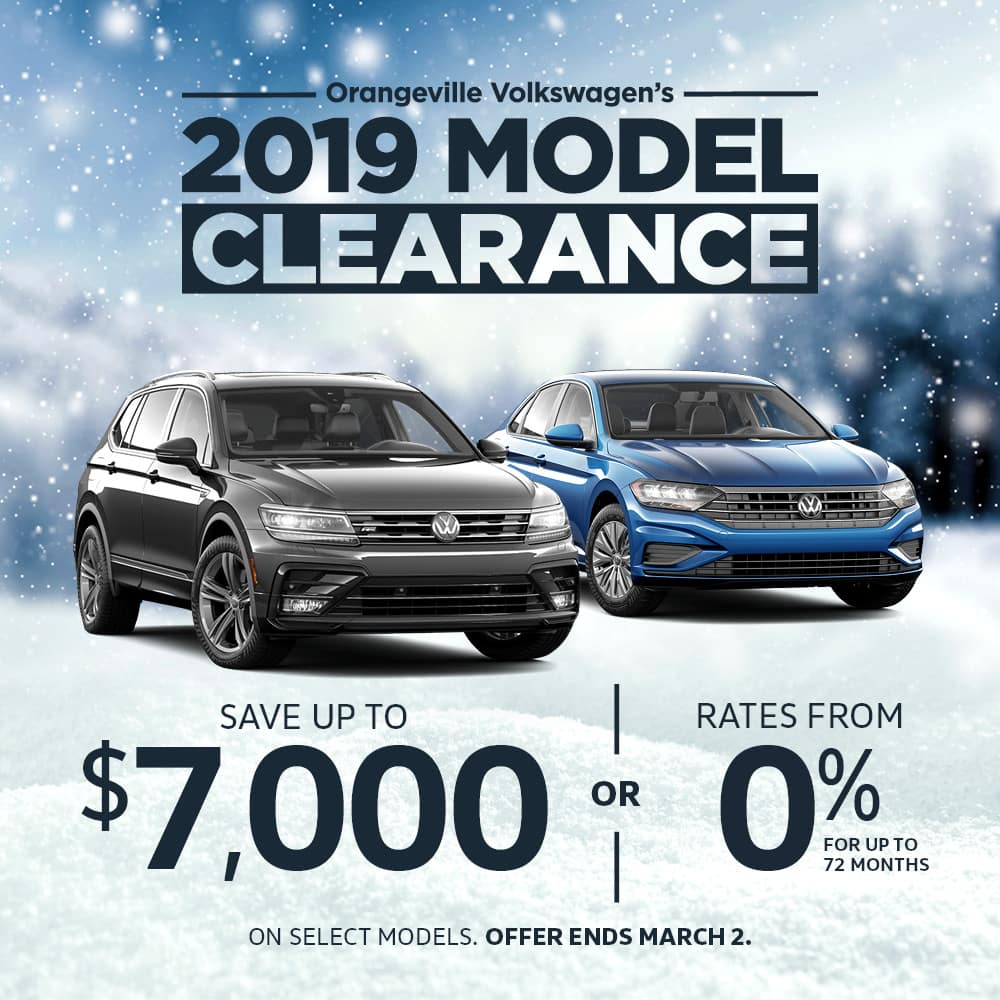2019 Model Clearance