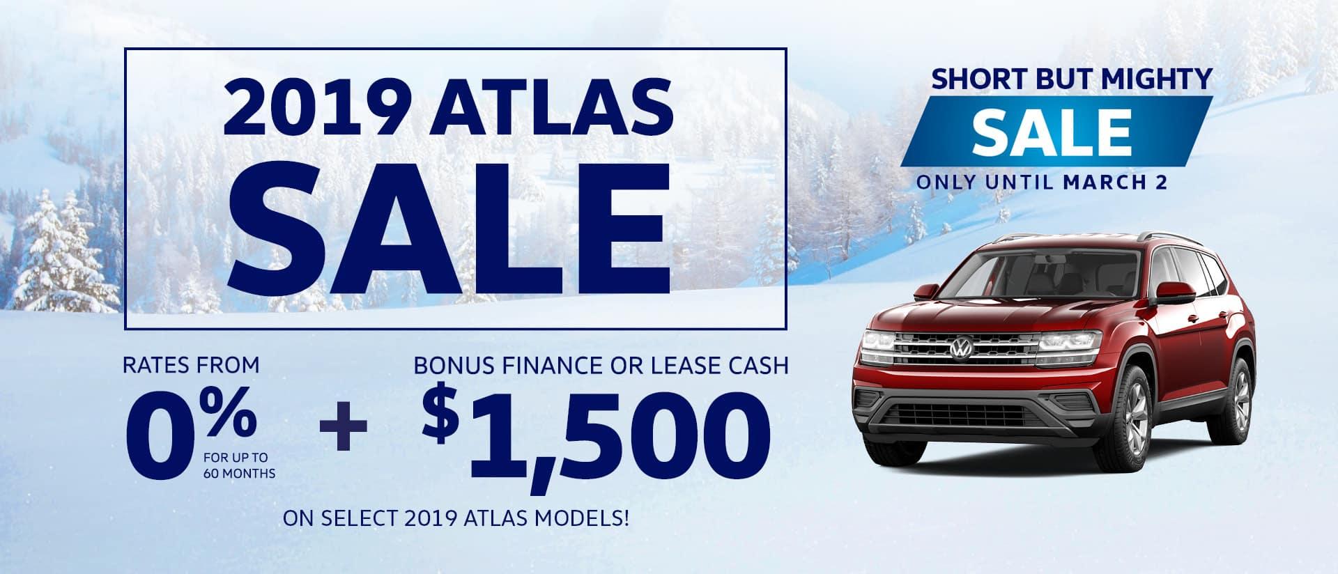 2019 Atlas Sale