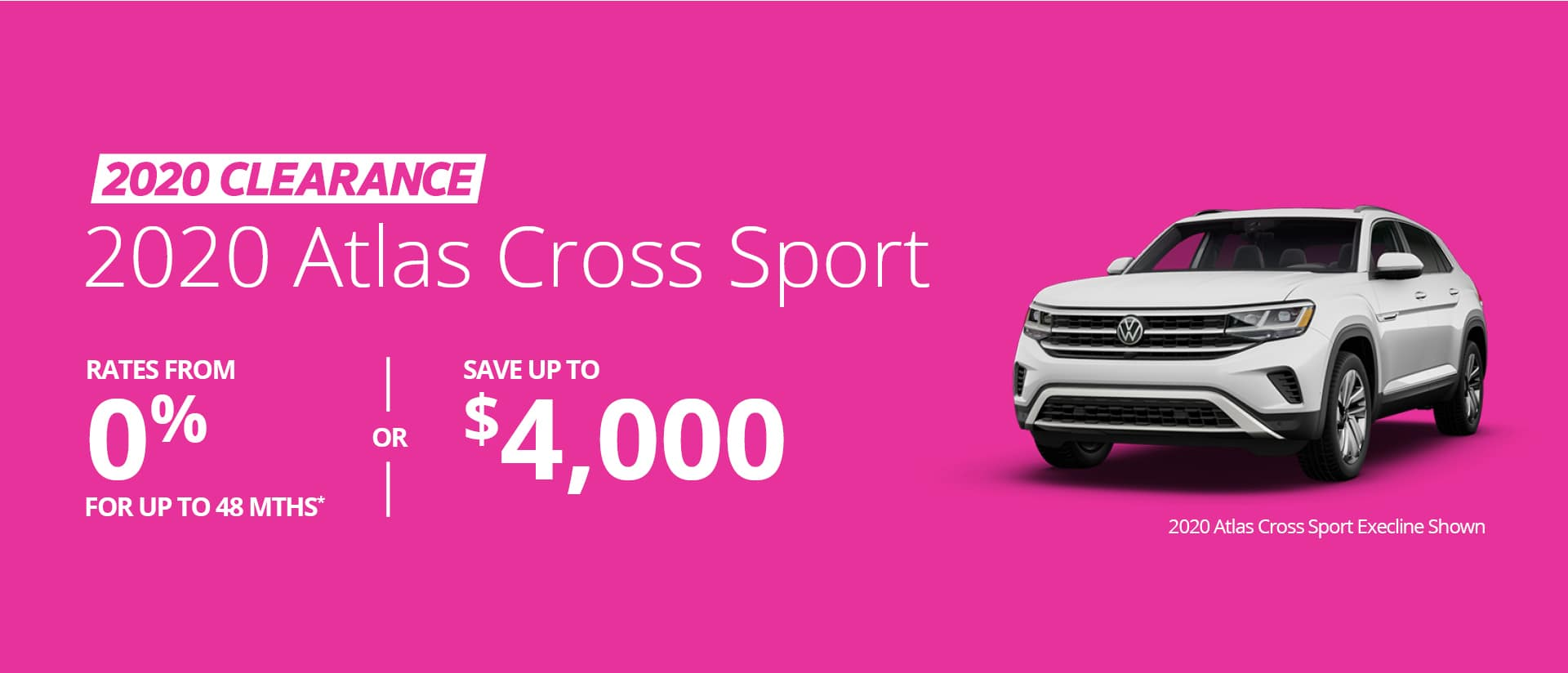 2020 Atlas Cross Sport Clearance desktop banner