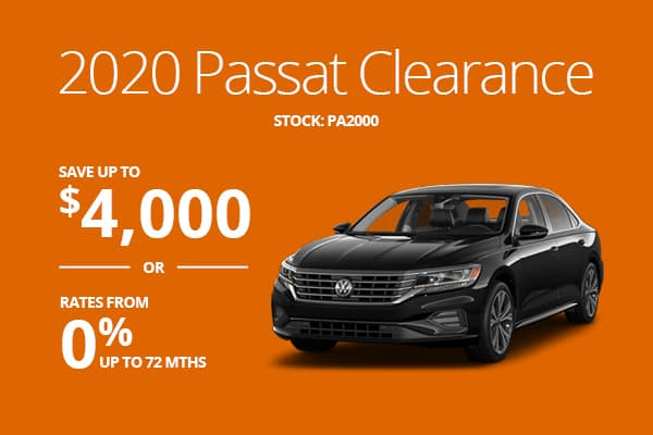 2020 Passat Clearance