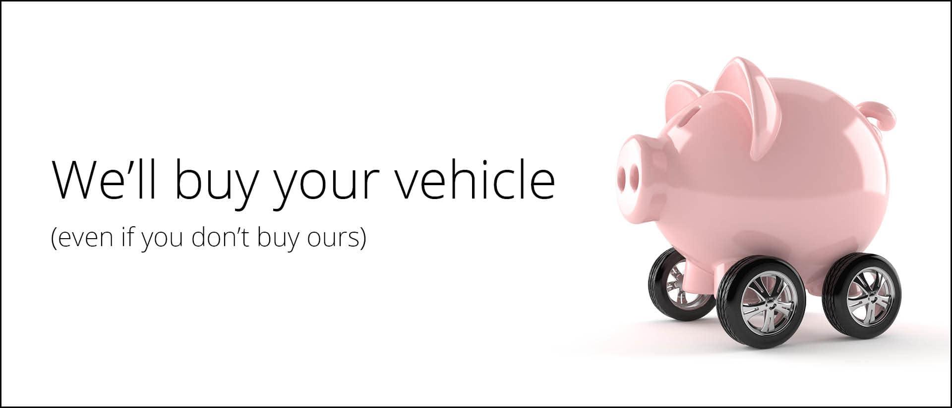 """""""We'll buy your vehicle"""" desktop banner"""
