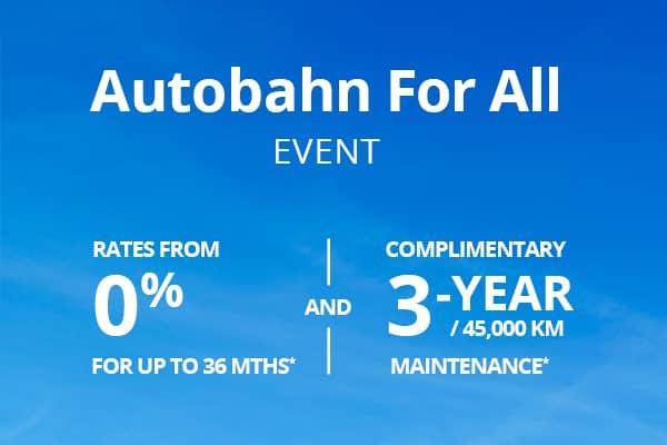 Autobahn for All offer mobile banner