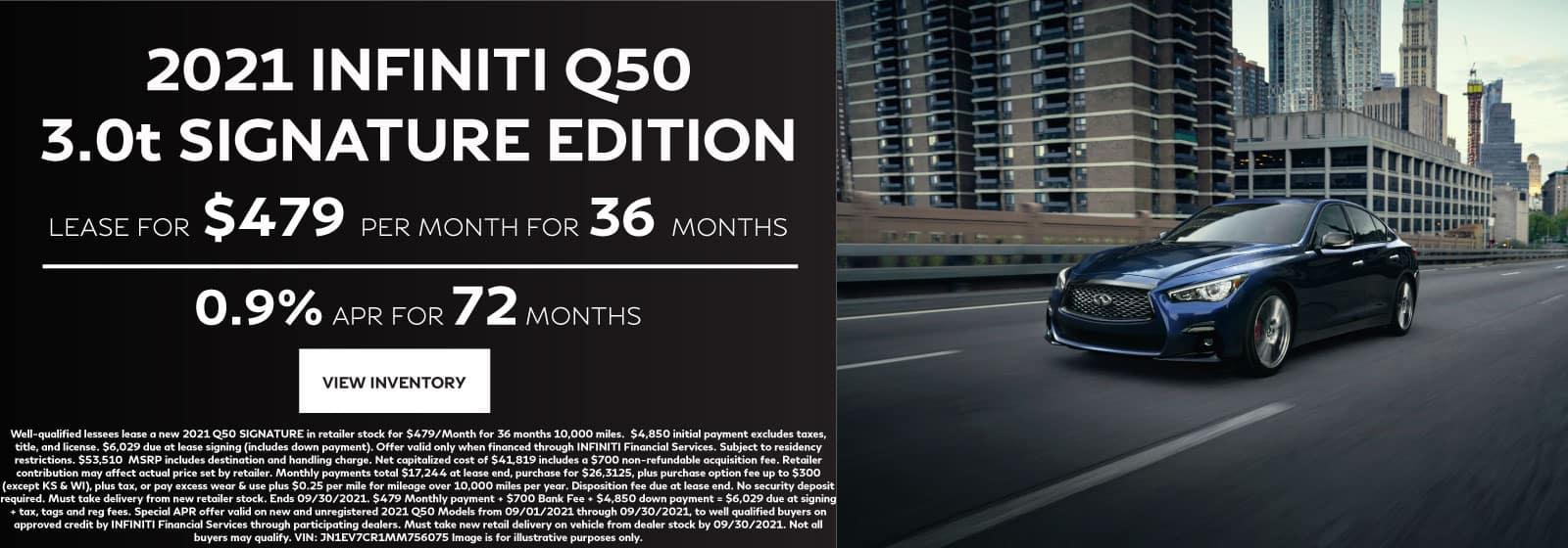 INFINITI Q50 Signature Edition Lease Offer
