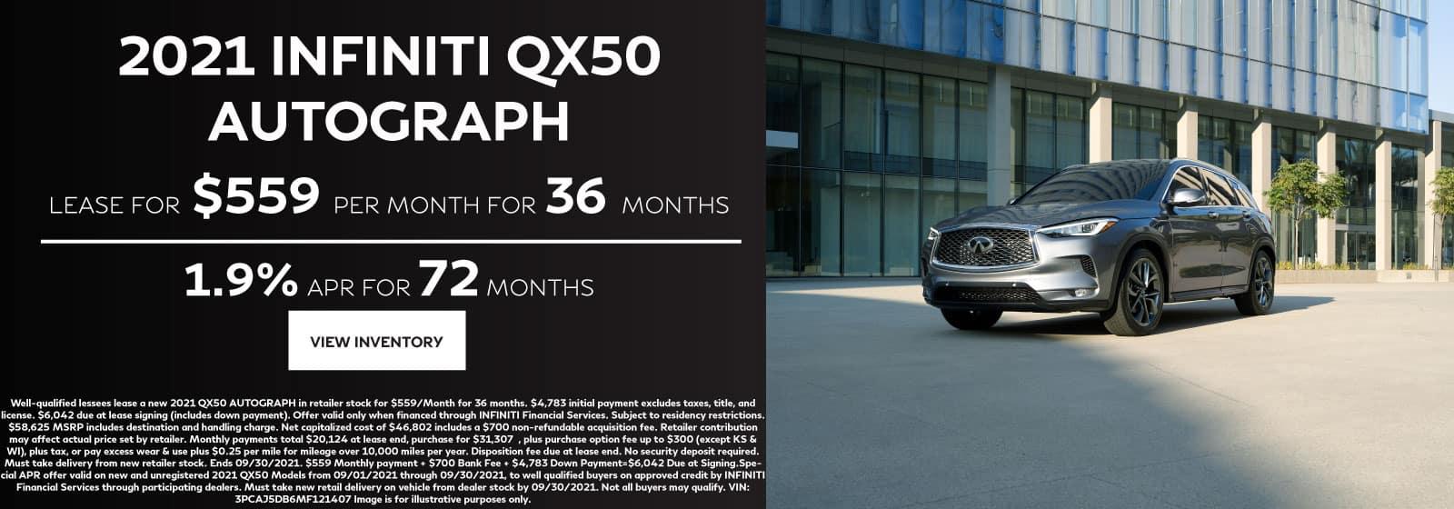 INFINITI QX50 Lease Offer