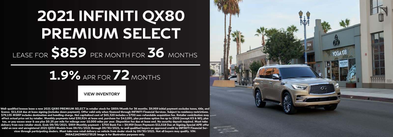 INFINTI QX80 Lease Offer