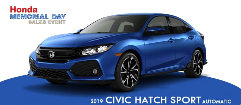 New 2019 Honda Civic Sport Hatchback