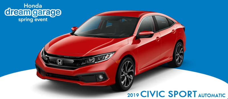 New 2019 Honda Civic Sport FWD 4D Sedan