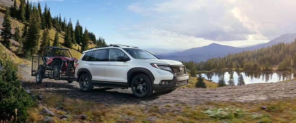 2019 Honda Passport at mountain campsite