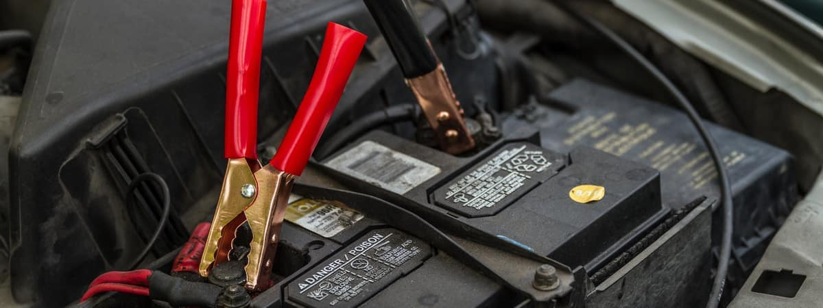 Jumper Cables on battery