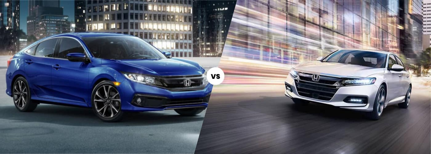comparison banner with honda civic and accord