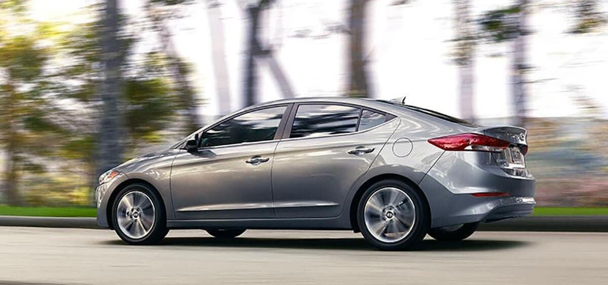 2018 Hyundai Elantra on the road
