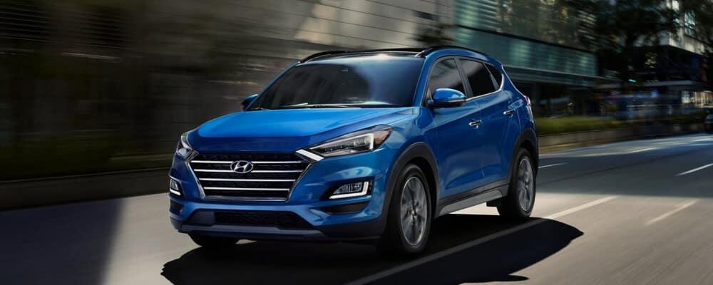 2021 Hyundai Tucson Driving down city street