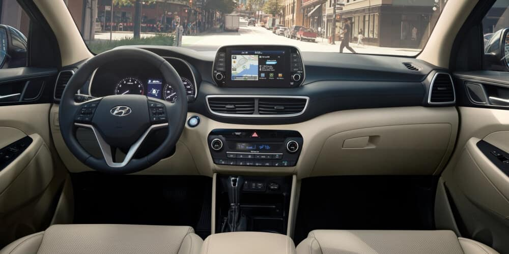 2021 Hyundai Tucson interior dashboard