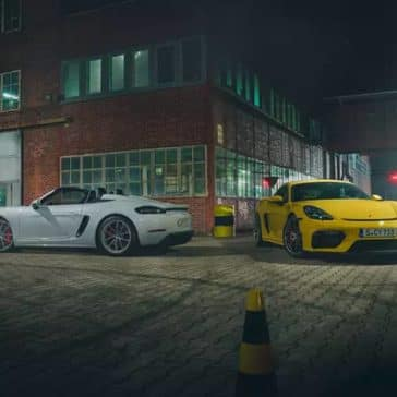 2020 Porsche 718 Cayman GT4 and Spyder