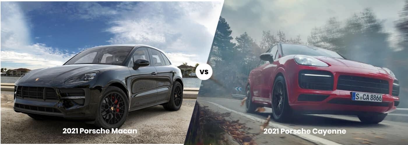 2021 Porsche Macan vs Cayenne