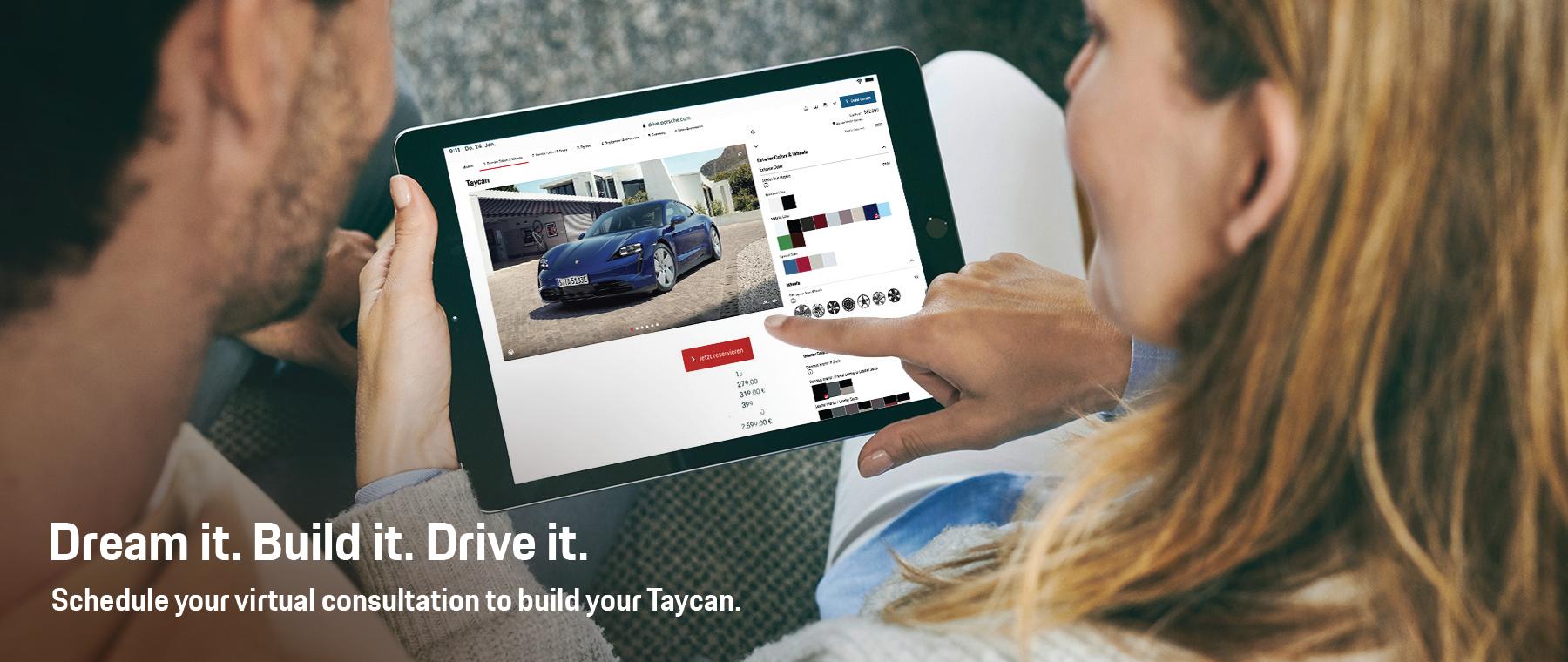 Dream it. Build it. Drive it. Taycan – DI