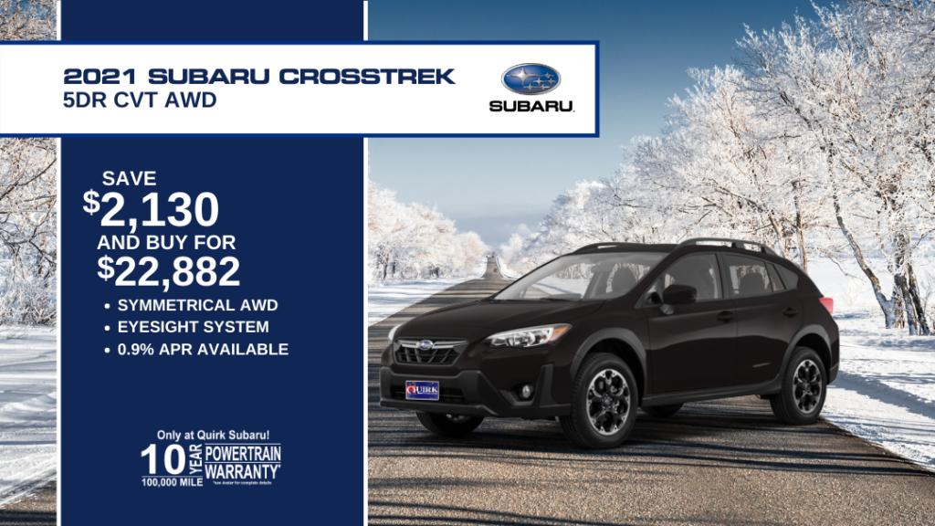 Save $2,130 and Buy 2021 Subaru Crosstrek 2.0L cvt For $22,882