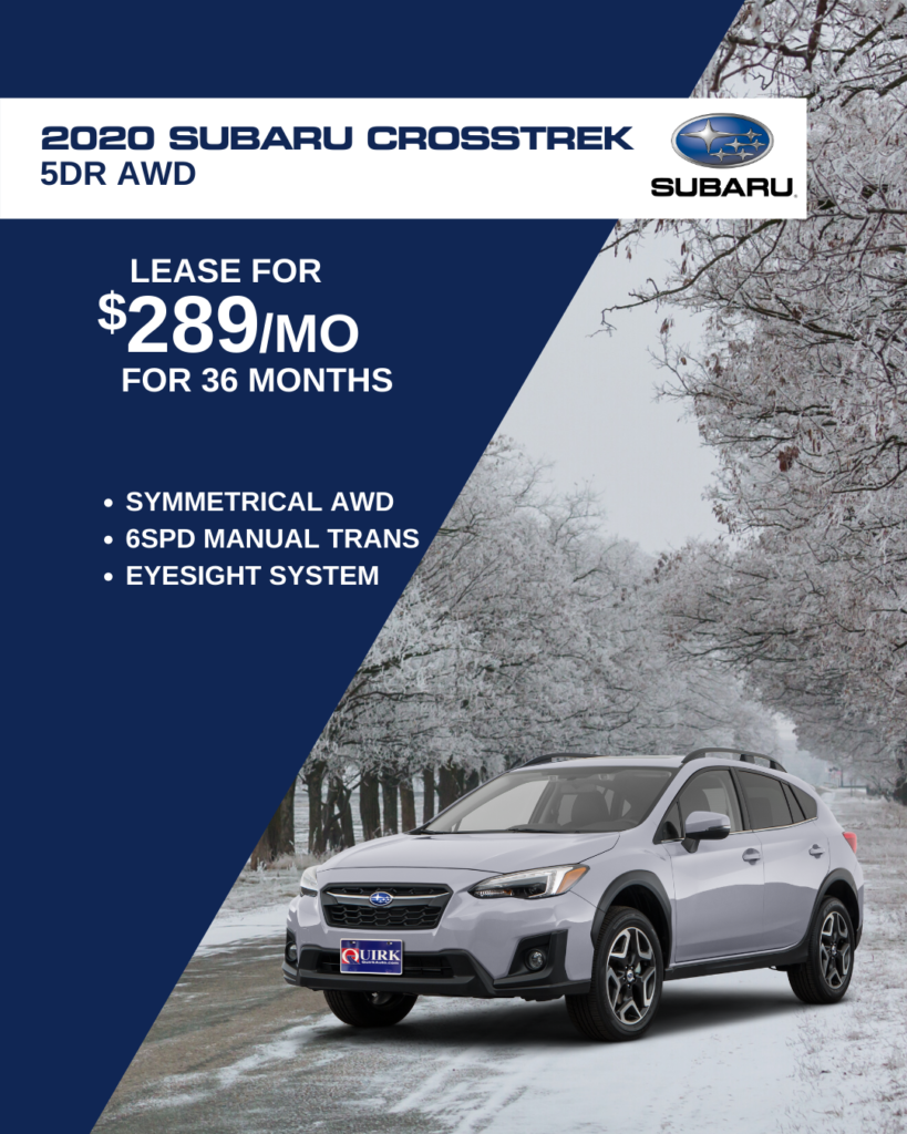 New 2020 Subaru Crosstrek AWD