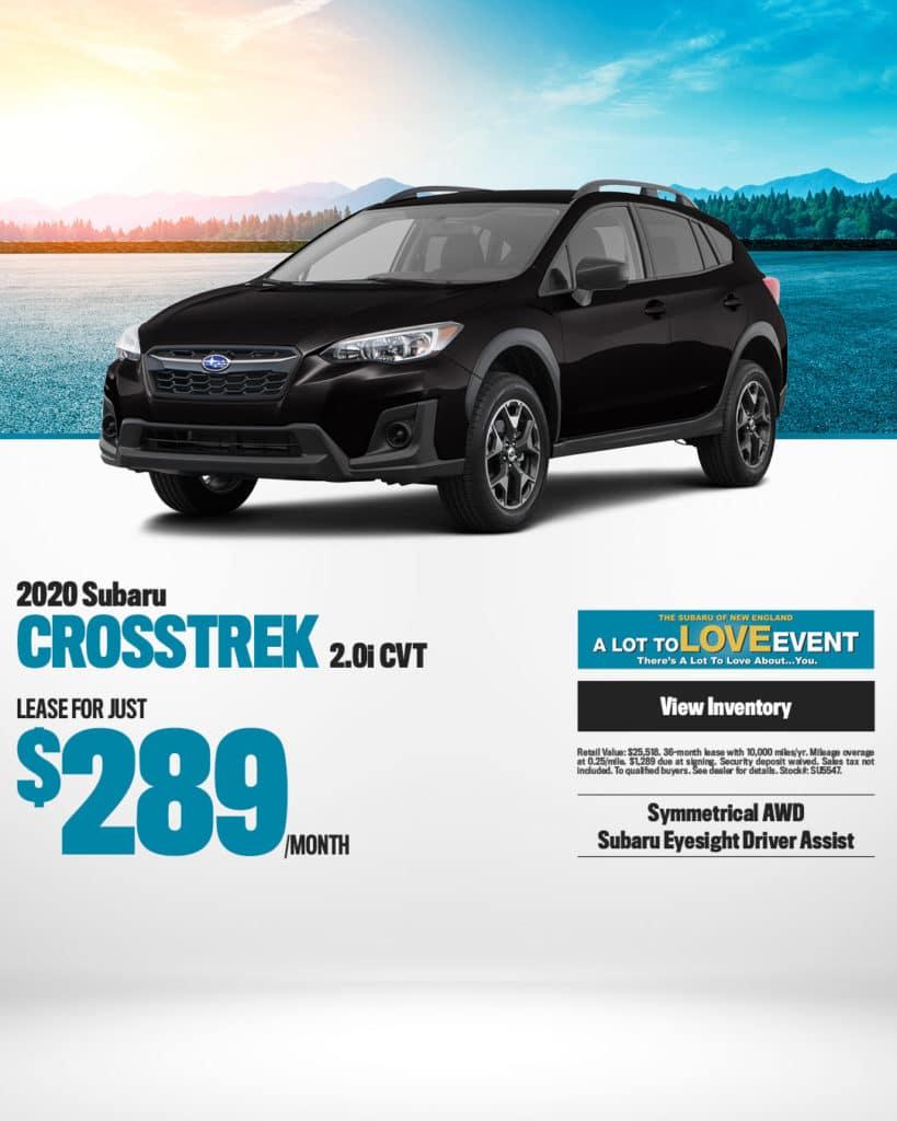 New 2020 Subaru Crosstrek AWD