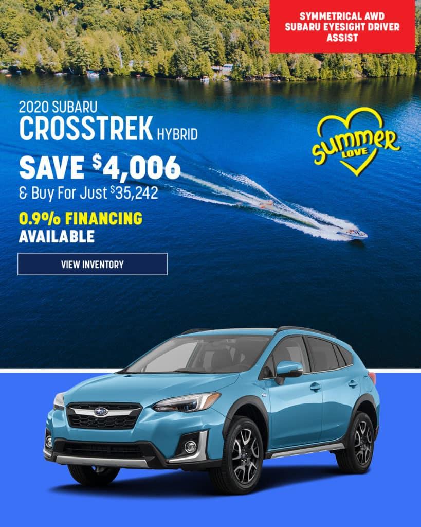 New 2020 Subaru Crosstrek Hybrid With Navigation & AWD