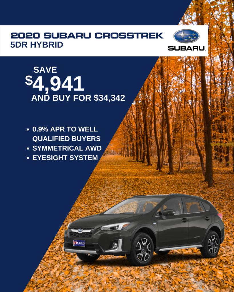 Save $4,941 and Buy 2020 Subaru Crosstrek Hybri 5Dr Sw Hybrid For $34,342