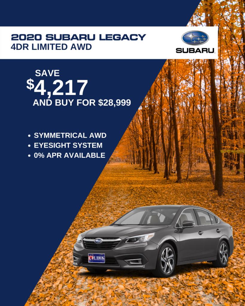 New 2020 Subaru Legacy Limited AWD