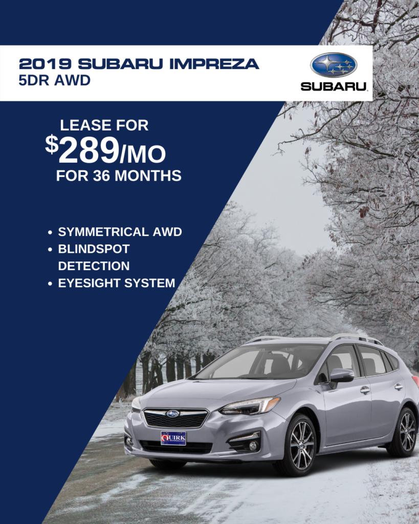New 2019 Subaru Impreza Premium AWD
