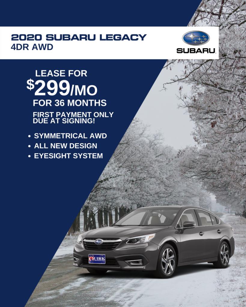New 2020 Subaru Legacy AWD