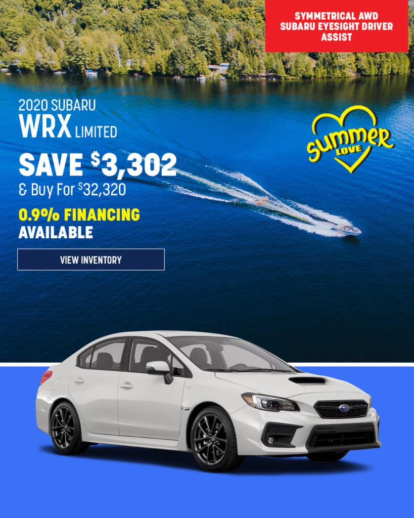 New 2020 Subaru WRX Limited AWD