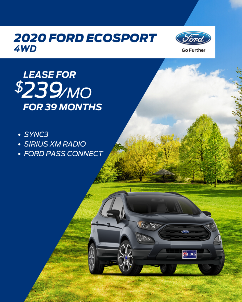 New 2019 Ford EcoSport SE 4WD