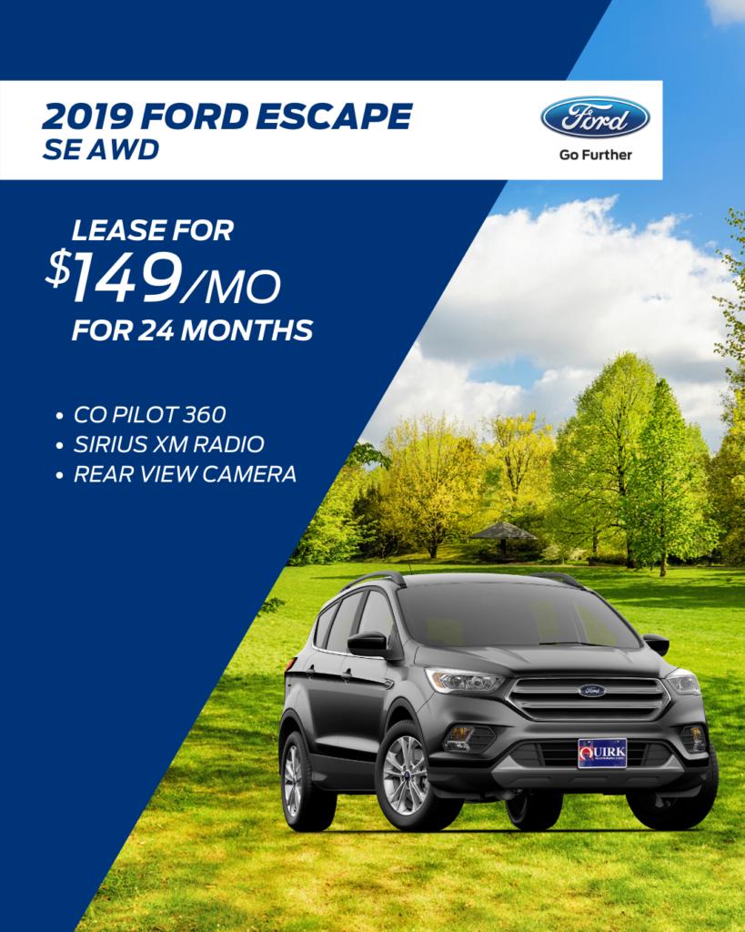 New 2020 Ford Escape SE AWD