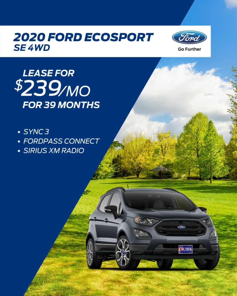 New 2020 Ford EcoSport SE With Navigation & 4WD