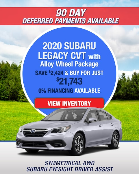 New 2020 Subaru Legacy AWD