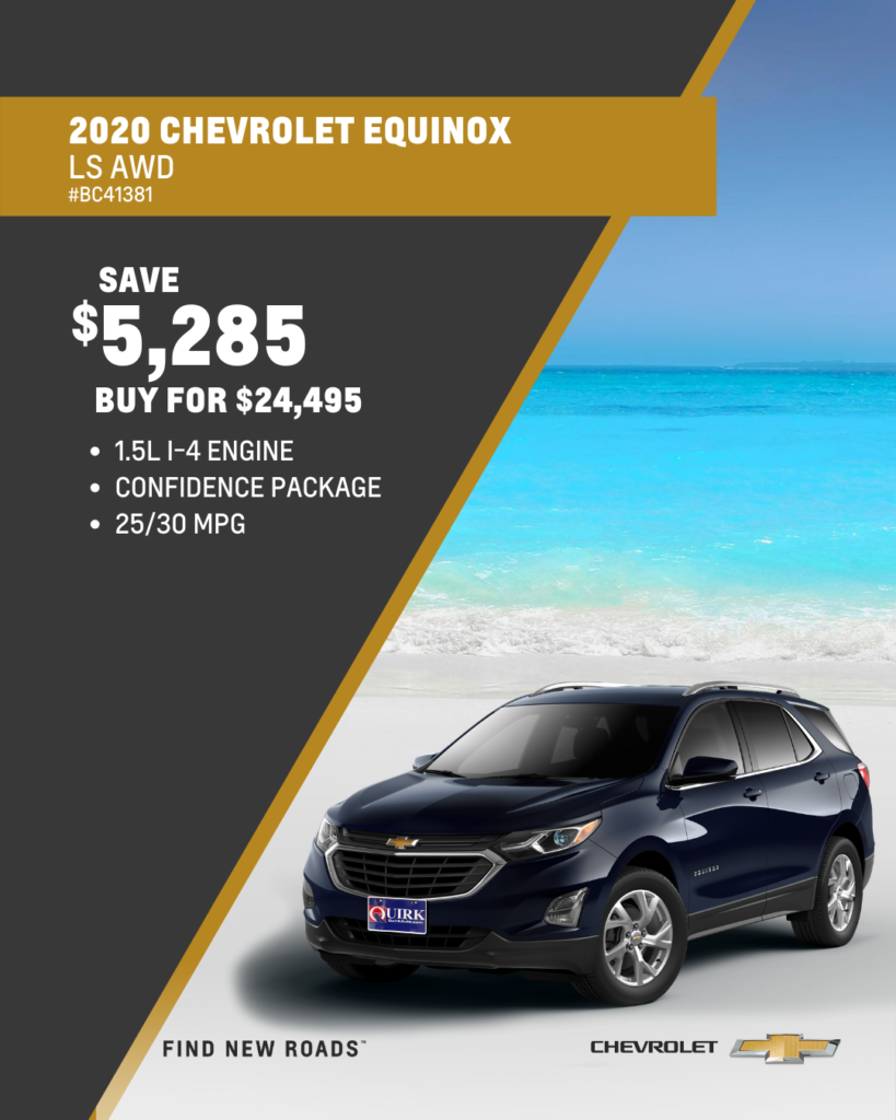 Save $5,285 and Buy 2020 Chevrolet Equinox LS AWD SUV For $24,495