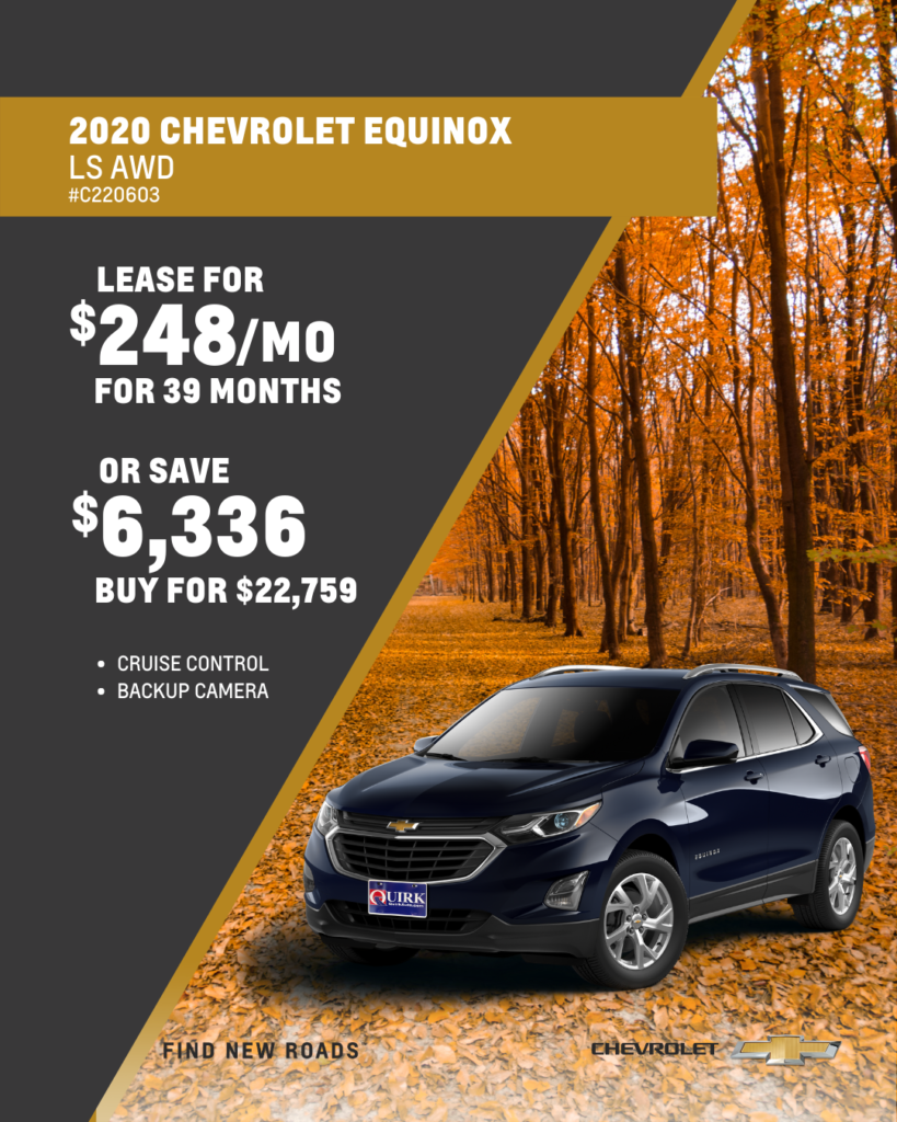 Save $6,336 and Buy 2020 Chevy Equinox LS AWD SUV For $22,759