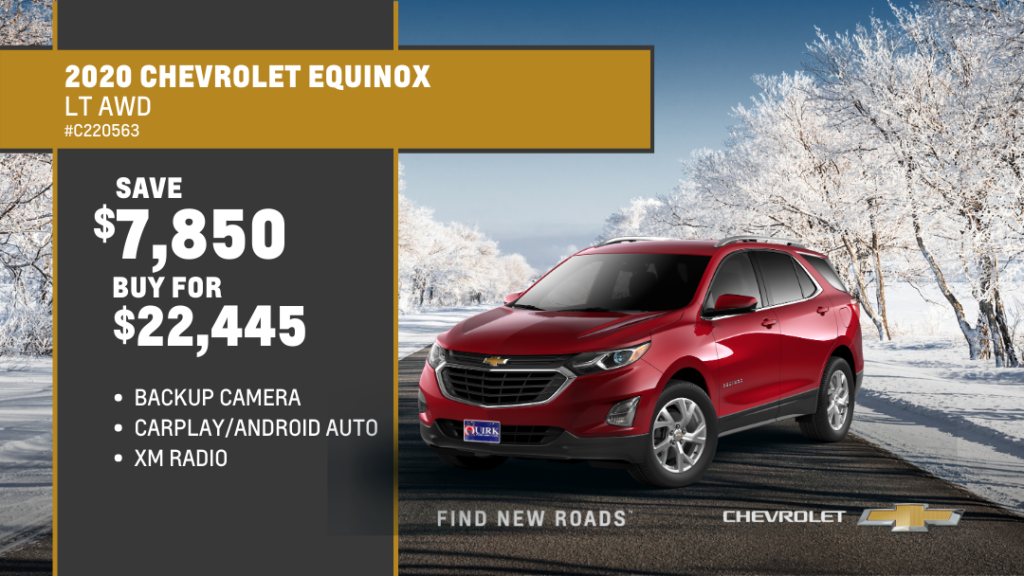 Save $7,850 and Buy 2020 Chevrolet Equinox LT AWD SUV For $22,445