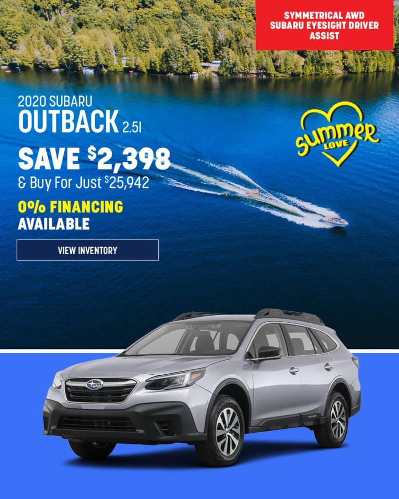 New 2020 Subaru Outback AWD