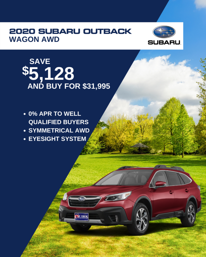 New 2020 Subaru Outback Limited With Navigation & AWD