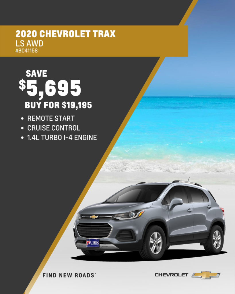 Save $5,690 and Buy 2020 Chevrolet Trax LS AWD SUV For $19,195