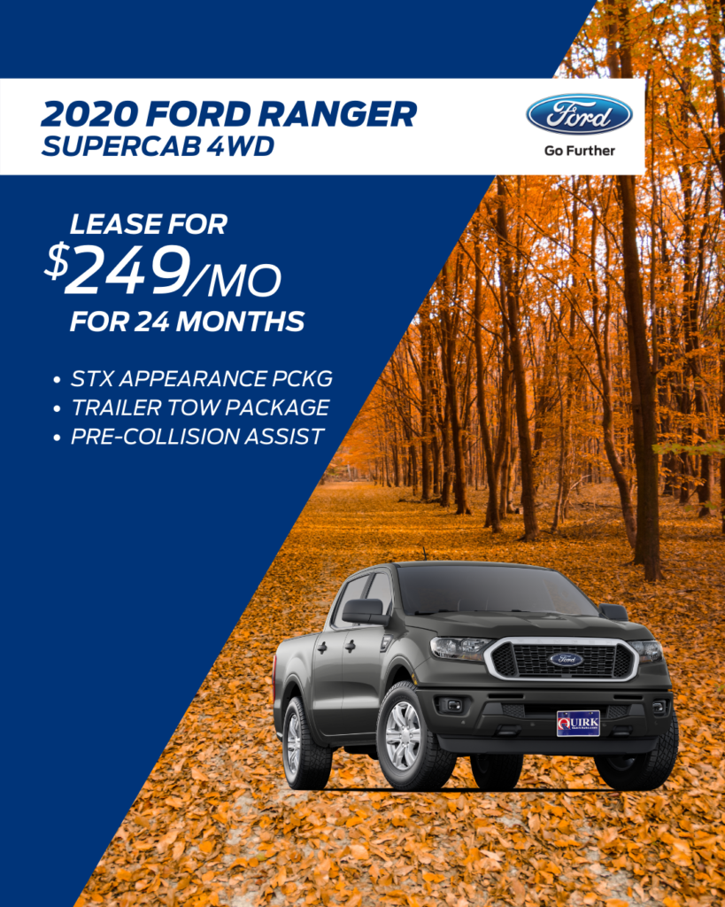 New 2020 Ford Ranger 4WD