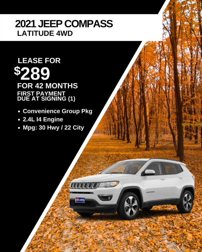 New 2021 Jeep Compass Latitude 4WD