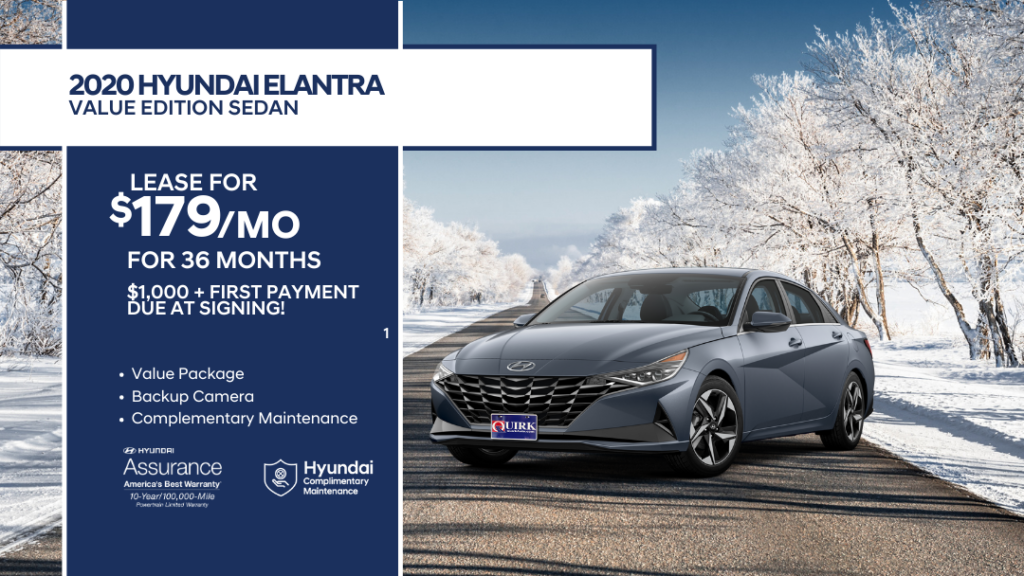 Lease 2020 Hyundai Elantra Value Edition FWD Sedan For $179/month, $1,179 Due At Signing